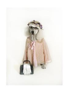 Poodle Dressed as Older Woman by Nora Hernandez