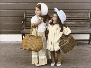 Sisters by the Bench by Nora Hernandez