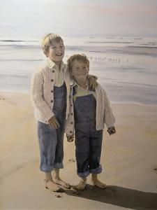 Two Boys on Beach by Nora Hernandez