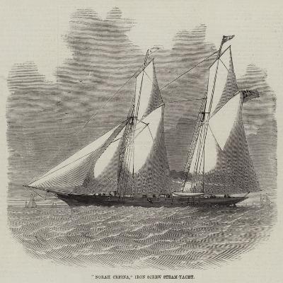 Norah Creina, Iron Screw Steam-Yacht-Edwin Weedon-Giclee Print