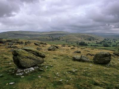 Norber Erratics Near Austwick, Yorkshire Dales National Park, Yorkshire, England, UK-Patrick Dieudonne-Photographic Print