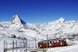 Gornergratbahn at Riffelberg, Matterhorn, Zermatt, Valais, Switzerland by Norbert Eisele-Hein