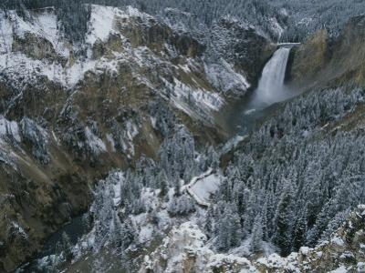 Lower Falls of the Yellowstone River in Winter