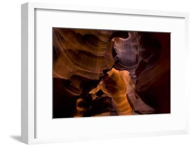 Muted Sunlight in a Slot Canyon Brings Out the Colors of Navajo Sandstone