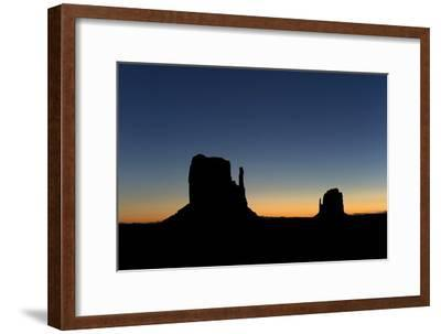 Silhouetted Rock Formations at Dawn
