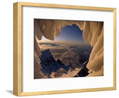View Through a Snowdrift of the Lechtaler Alps