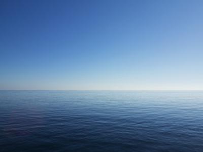 Blue Sky over Calm Sea