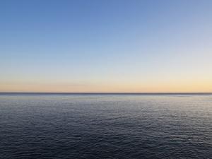 Seascape at Sunset by Norbert Schaefer