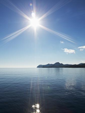 Sun Shining above Calm Sea
