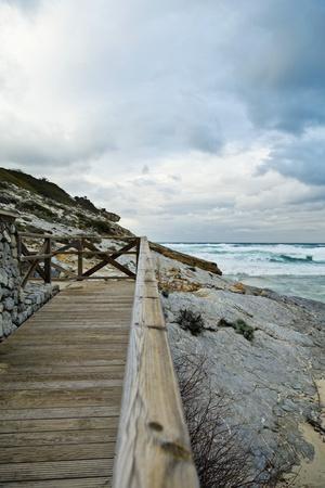 Wooden Footbridge at the Coast