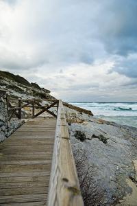 Wooden Footbridge at the Coast by Norbert Schaefer