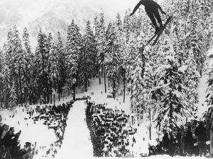 Nordal Kaldahl of Canada Won the Northwest Ski Jumping Championship, at Big Hill, Cascade Mountains