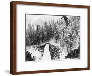 Nordal Kaldahl of Canada Won the Northwest Ski Jumping Championship, at Big Hill, Cascade Mountains