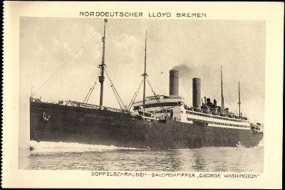 Norddeutscher Lloyd Bremen, Dampfer George Washington--Giclee Print
