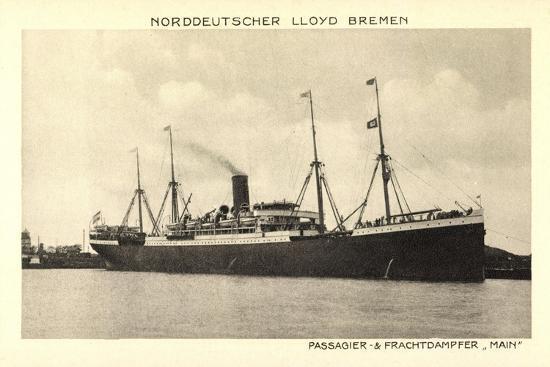 Norddeutscher Lloyd Bremen, Dampfer Main--Giclee Print