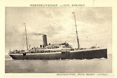 Norddeutscher Lloyd Bremen, Dampfer Prinz Luitpold--Giclee Print