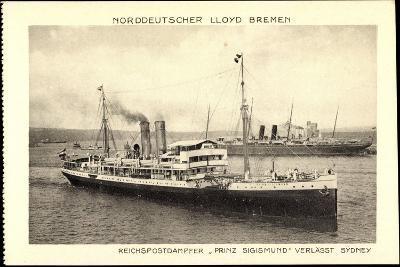 Norddeutscher Lloyd Bremen, Dampfer Prinz Sigismund--Giclee Print