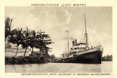 Norddeutscher Lloyd Bremen, Dampfer Prinz Waldemar--Giclee Print