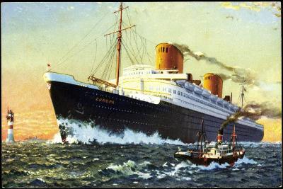 Norddeutscher Lloyd Bremen, Dampfschiff Europa--Giclee Print