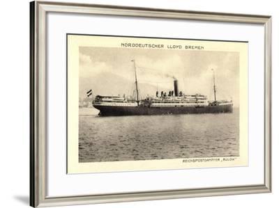 Norddeutscher Lloyd Bremen, Reichspostdampfer Bülow--Framed Giclee Print