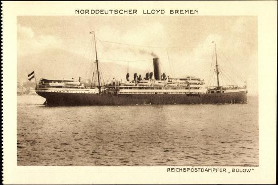 Norddeutscher Lloyd Bremen, Reichspostdampfer Bülow--Giclee Print