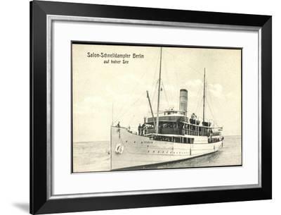 Norddeutscher Lloyd Bremen, Schnelldampfer Berlin--Framed Giclee Print
