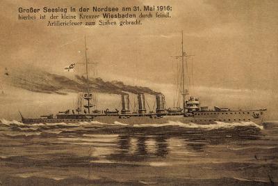 Nordsee, 31.Mai.1916, Kreuzer Wiesbaden, Versunken--Giclee Print
