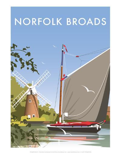 Norfolk Broads - Dave Thompson Contemporary Travel Print-Dave Thompson-Art Print