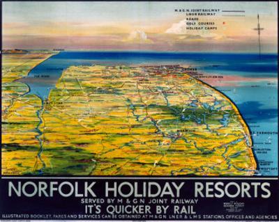 Norfolk Holiday Resorts, M&GN/LNER/LMS, c.1936