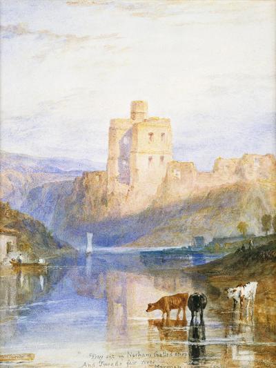 Norham Castle: an Illustration to Sir Walter Scott's Marmion, 1818-J^ M^ W^ Turner-Giclee Print