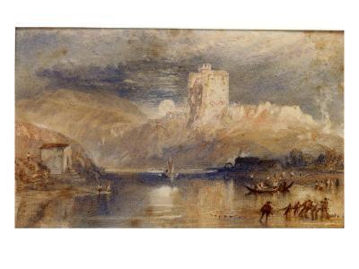 Norham Castle - Moonrise-J^ M^ W^ Turner-Giclee Print