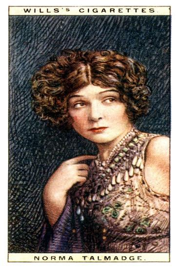 Norma Talmadge, American Actress, 1928- WD & HO Wills-Giclee Print