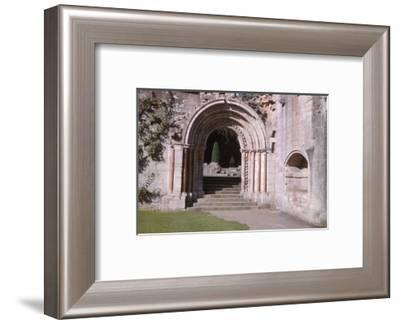 Norman Arch leading to cloisters, Dryburgh Abbey, Berwick-shire, Scotland, 20th century-CM Dixon-Framed Photographic Print