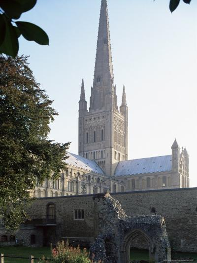 Norman Cathedral, Dating from 11th Century, with 15th Century Spire, Norwich-Nedra Westwater-Photographic Print
