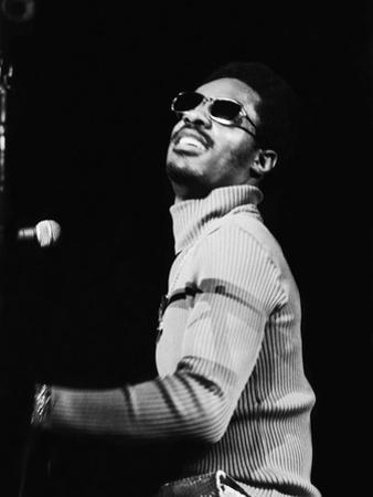 Stevie Wonder Performs in Concert by Norman Hunter