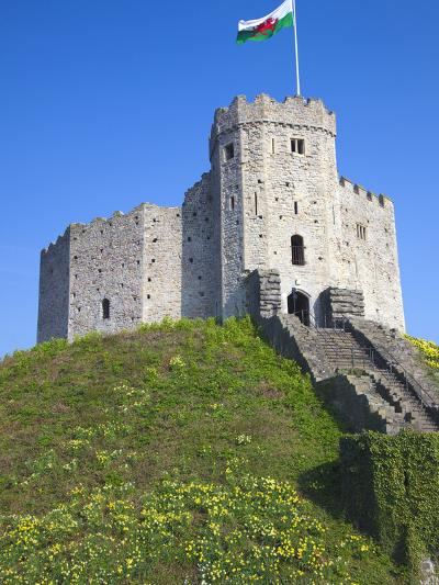 Norman Keep, Cardiff Castle, Cardiff, South Wales, Wales, United Kingdom, Europe-Billy Stock-Photographic Print