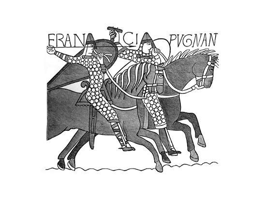 Norman Knights, Bayeux Tapestry, C1070s--Giclee Print