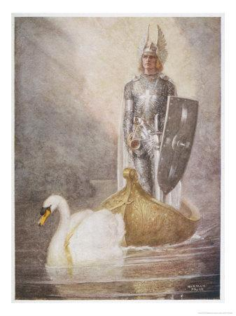 Lohengrin Arrives in a Boat Drawn by Elsa's Brother Godfrey