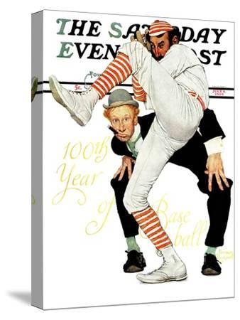 """100th Anniversary of Baseball"" Saturday Evening Post Cover, July 8,1939"