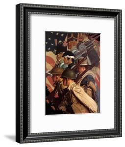 A Pictorial History of the United States Army (or To Make Men Free) by Norman Rockwell
