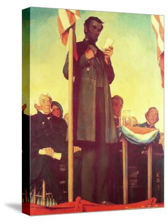 Abraham Lincoln Delivering the Gettysburg Address