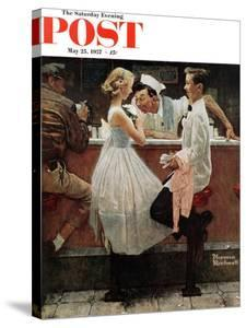 """""""After the Prom"""" Saturday Evening Post Cover, May 25,1957 by Norman Rockwell"""