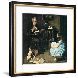 All The World's Knowledge Can Now Be Yours (or The Perfect Audience) by Norman Rockwell