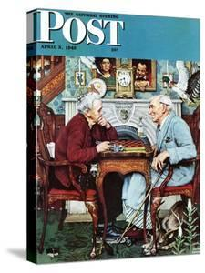 """April Fool, 1943"" Saturday Evening Post Cover, April 3,1943 by Norman Rockwell"