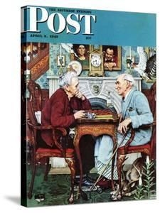 """""""April Fool, 1943"""" Saturday Evening Post Cover, April 3,1943 by Norman Rockwell"""