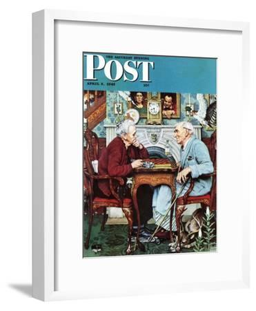 """April Fool, 1943"" Saturday Evening Post Cover, April 3,1943"