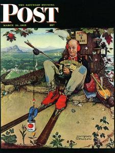 """April Fool, 1945"" Saturday Evening Post Cover, March 31,1945 by Norman Rockwell"