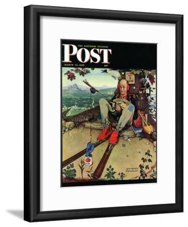 """April Fool, 1945"" Saturday Evening Post Cover, March 31,1945"