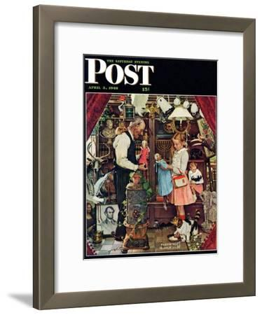 """April Fool, 1948"" Saturday Evening Post Cover, April 3,1948"