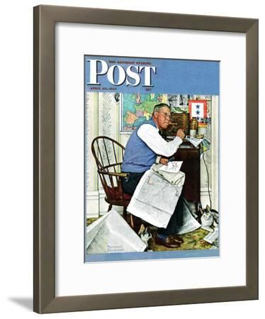 """Armchair General"" Saturday Evening Post Cover, April 29,1944"